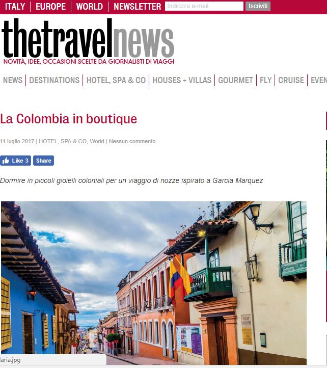 THE TRAVEL NEWS: LA COLOMBIA IN BOUTIQUE
